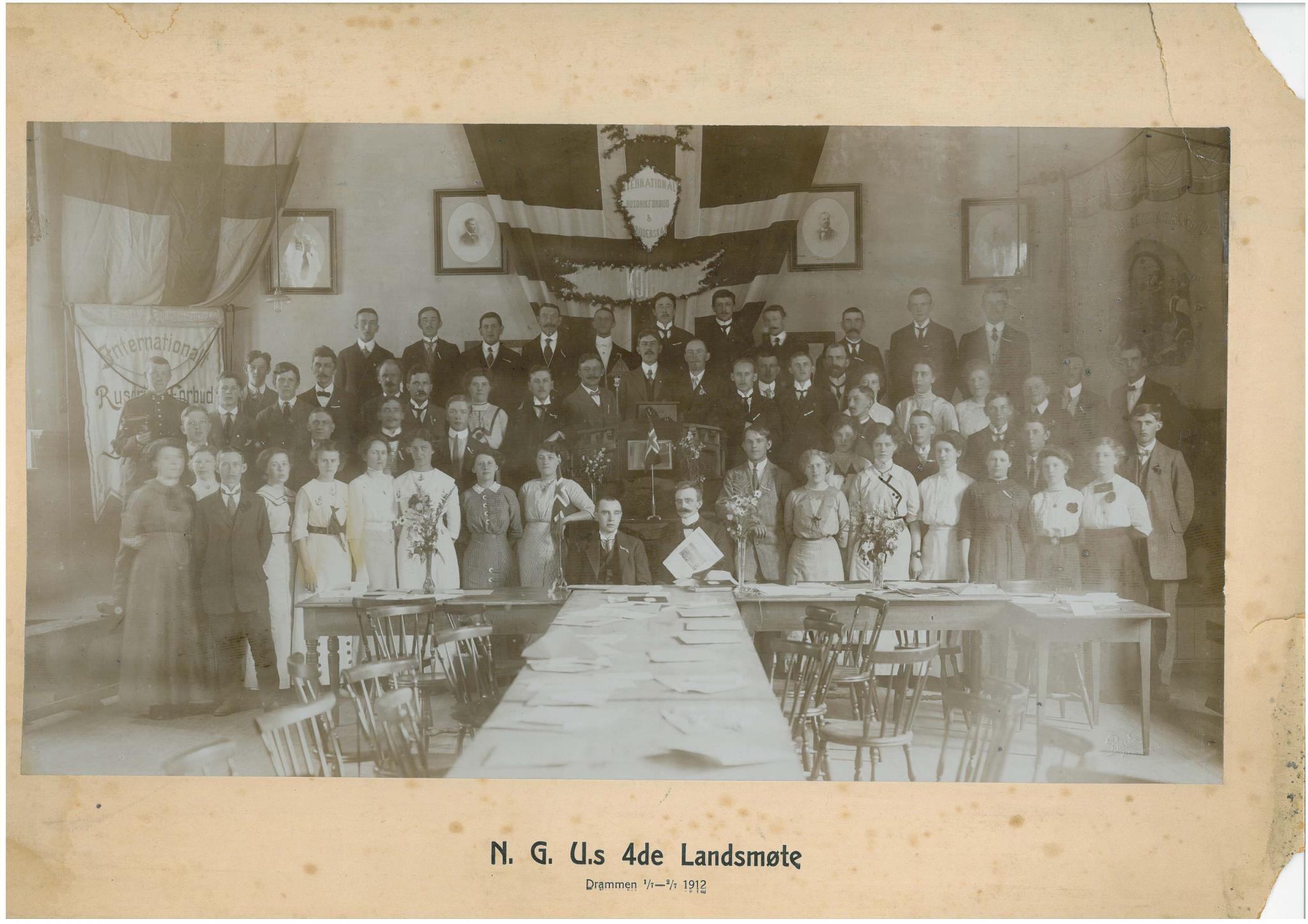 NGUs fjerde landsmøte i Drammen i 1912
