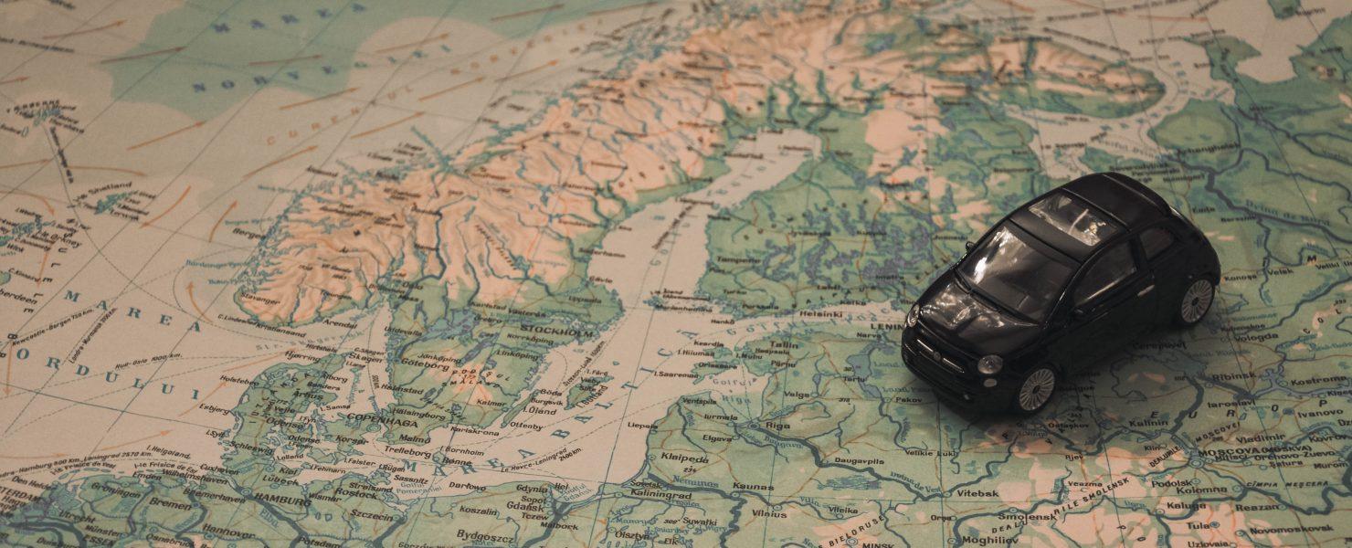 Bilde av bil på kart