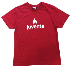 Juvente-logo rød t-skjorte