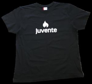 Juvente-logo svart t-skjorte